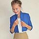 """Пиджаки, жакеты ручной работы. Ярмарка Мастеров - ручная работа. Купить Жакет """"Patricia"""". Handmade. Синий, синий жакет, женственность"""