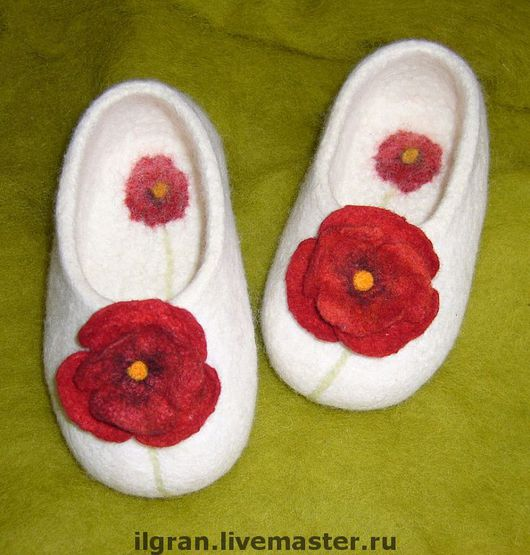 Обувь ручной работы. Ярмарка Мастеров - ручная работа. Купить Тапочки валяные для дома. Handmade. Детские тапочки, тепло и комфот