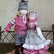 Народная кукла ручной работы. Ярмарка Мастеров - ручная работа Неразлучники - парный оберег для счастья в семье. Handmade.