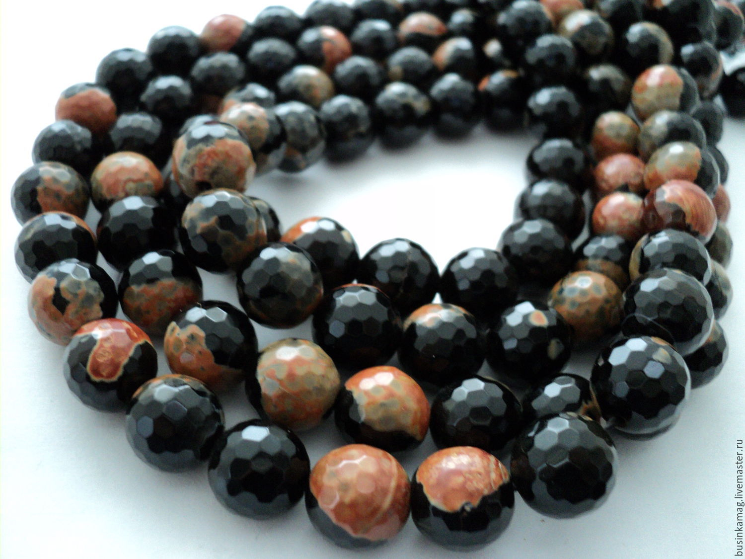 All for Jewelry Making handmade. Livemaster - handmade. Buy Agate faceted beads balls 12mm.Natural stones
