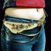 Аксессуары handmade. Livemaster - original item a leather belt -