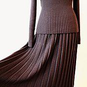 """Одежда ручной работы. Ярмарка Мастеров - ручная работа Вязаный комплект """"Плиссе"""". Handmade."""