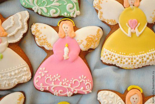 Кулинарные сувениры ручной работы. Ярмарка Мастеров - ручная работа. Купить Ангел. Handmade. Ангел, ангел на удачу, сахарная глазурь