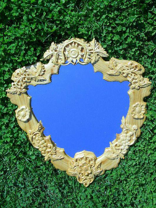 Зеркала ручной работы. Ярмарка Мастеров - ручная работа. Купить Зеркало резное, Липа. Handmade. Интерьер, зеркало, липа