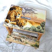 Для дома и интерьера handmade. Livemaster - original item Stepladder - stool Savannah. Handmade.