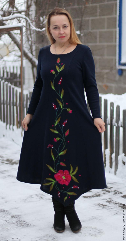 """Вязаное платье """"Полевые цветы"""", Платья, Павлодар, Фото №1"""