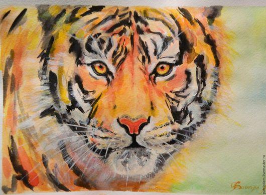Животные ручной работы. Ярмарка Мастеров - ручная работа. Купить Рыжий полосатик. Handmade. Комбинированный, африка, дикие животные, тигр