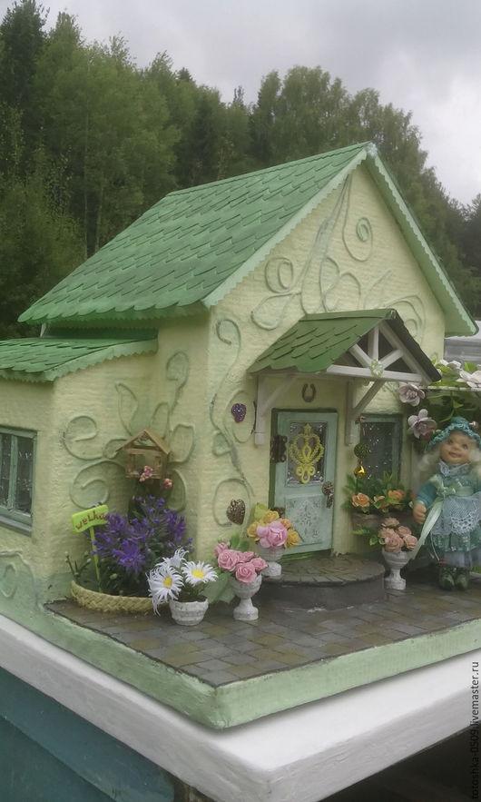 """Кукольный дом ручной работы. Ярмарка Мастеров - ручная работа. Купить Кукольный домик """"Мятный домик для мятной феечки"""". Handmade."""
