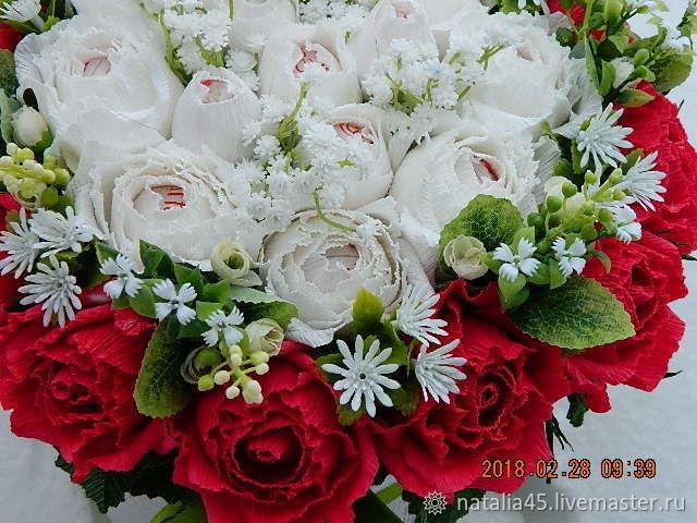"""Шляпная коробка с цветами """"Нежность"""", Персональные подарки, Великий Устюг, Фото №1"""