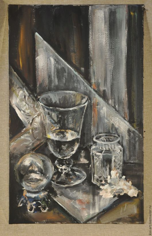 Натюрморт со стеклом Кисель Вероника