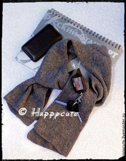 Шарфы и шарфики ручной работы. Ярмарка Мастеров - ручная работа. Купить Мужской шерстяной шарф  для деловых мужчин. Handmade. Серый