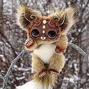 Куклы и игрушки ручной работы. Ярмарка Мастеров - ручная работа пятнистый кошачий зверек. Handmade.