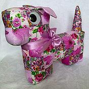 Куклы и игрушки ручной работы. Ярмарка Мастеров - ручная работа Собачка из лоскутков. Handmade.