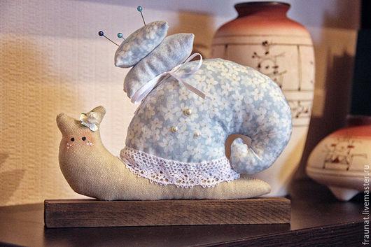 Куклы Тильды ручной работы. Ярмарка Мастеров - ручная работа. Купить Улитка Тильда в нежно-голубом цвете. Handmade. Голубой