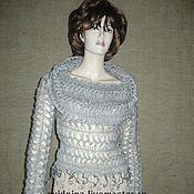 """Одежда ручной работы. Ярмарка Мастеров - ручная работа блузон """"Туманное утро"""". Handmade."""