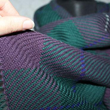 Accessories handmade. Livemaster - original item Woven scarf from Italian blend. Hand weaving.. Handmade.