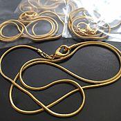 Материалы для творчества handmade. Livemaster - original item Chain lace for jewelry with lock art. 4-14A, gilt. Handmade.