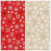 Материалы для творчества ручной работы. Ярмарка Мастеров - ручная работа Ткань Traditional Metallic Christmas Snowflake Makower UK. Handmade.