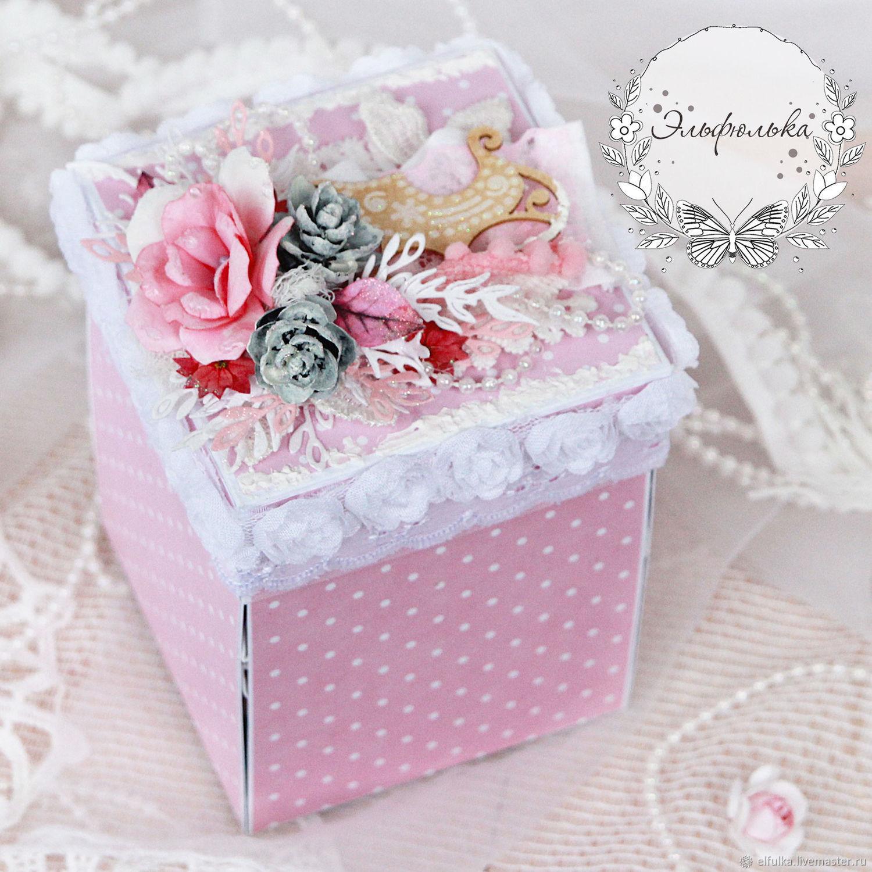 Августа, открытка с коробками внутри