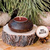 Для дома и интерьера handmade. Livemaster - original item Candle holder made from natural textured Pine #P24. Handmade.