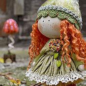 Куклы и игрушки ручной работы. Ярмарка Мастеров - ручная работа РЫЖАЯ текстильная куколка-малышка. Handmade.