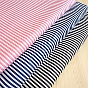 Ткани ручной работы. Ярмарка Мастеров - ручная работа Ткань Полоска средняя (три цвета), сатин, 100% хлопок. Handmade.