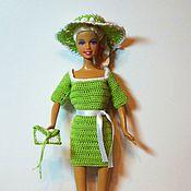Куклы и игрушки ручной работы. Ярмарка Мастеров - ручная работа Вязаное платье для куклы Барби. Handmade.