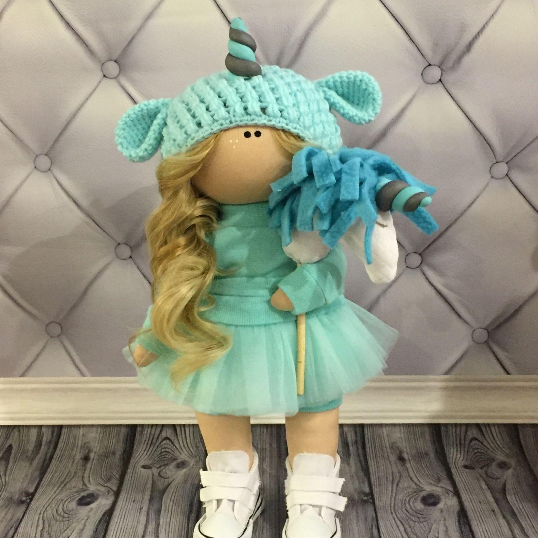 Текстильная кукла ручной работы единорог, Тыквоголовка, Вельск,  Фото №1