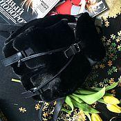 Одежда ручной работы. Ярмарка Мастеров - ручная работа Рюкзак из меха норки blackglama. Handmade.