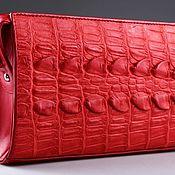 Сумки и аксессуары handmade. Livemaster - original item Women`s crocodile leather clutch IMA0052R2. Handmade.