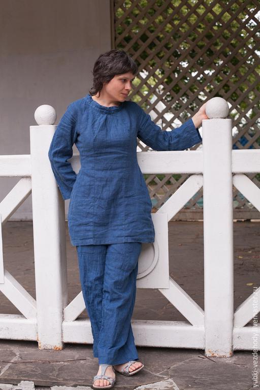 Платья ручной работы. Ярмарка Мастеров - ручная работа. Купить Платье Синее Лесное. Handmade. Синий, удобное платье