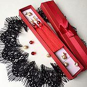 Украшения handmade. Livemaster - original item Red earrings tassels Lady Red. Handmade.