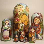 Русский стиль handmade. Livemaster - original item Nesting doll Large 7-seater