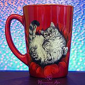 """Посуда ручной работы. Ярмарка Мастеров - ручная работа Кружка """"Любимый кот"""". Handmade."""
