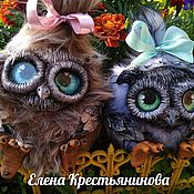 Мягкие игрушки ручной работы. Ярмарка Мастеров - ручная работа Игрушки: Совушки Туся и Муся. Handmade.