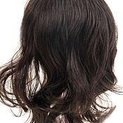 Паричок для куклы, с челкой, волосы вьющиеся искусственные