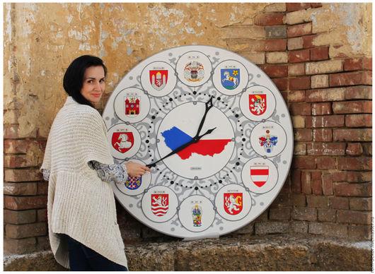 """Часы для дома ручной работы. Ярмарка Мастеров - ручная работа. Купить Часы 110 см """"Чехия"""". РОСПИСЬ, единственный экземпляр!. Handmade."""