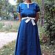 Платья ручной работы. Ярмарка Мастеров - ручная работа. Купить Платье городское синее. Handmade. Синий, одежда для беременных