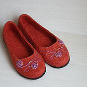 """Обувь ручной работы. Ярмарка Мастеров - ручная работа Балетки """"Грейпфрут"""". Handmade."""