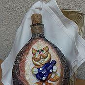 Сувениры и подарки handmade. Livemaster - original item Bottle-cat