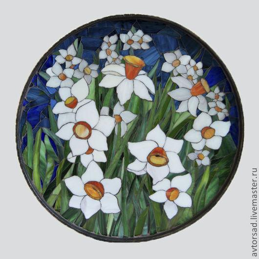 Мозаичное панно `Нарциссы`