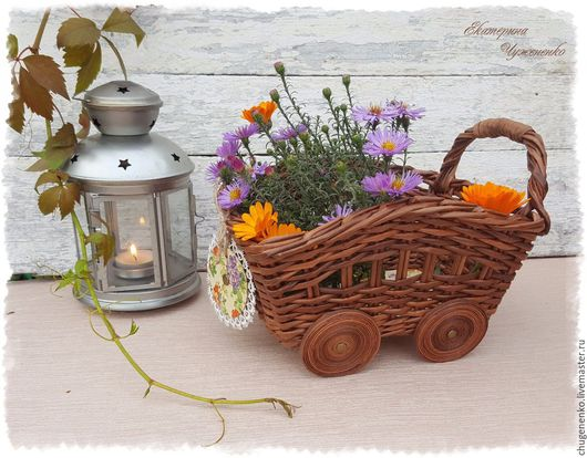 Кухня ручной работы. Ярмарка Мастеров - ручная работа. Купить Тележка  плетеная подарочная  La petite France. Handmade.