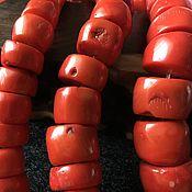Бусины ручной работы. Ярмарка Мастеров - ручная работа Бусина 15-21 мм Коралл-срез  (25), коралл. Handmade.