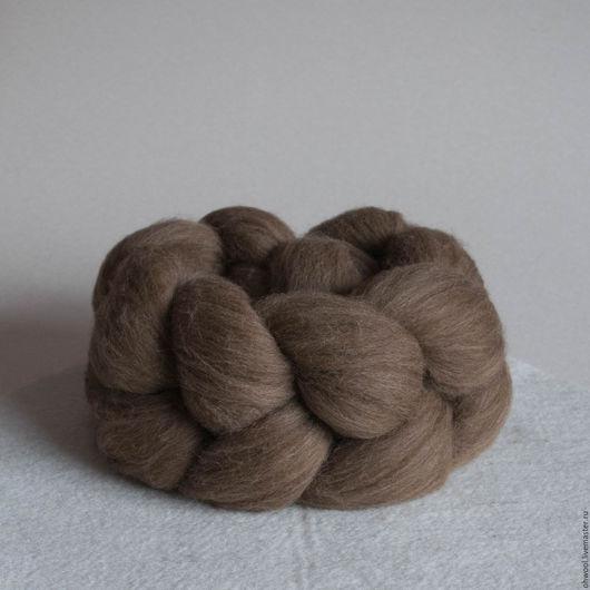 Валяние ручной работы. Ярмарка Мастеров - ручная работа. Купить Шерсть Shetland, коричневый, 50 гр.. Handmade. Шерсть