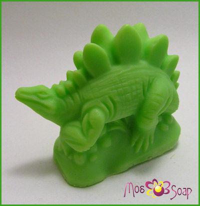 Мыло ручной работы. Ярмарка Мастеров - ручная работа. Купить Объёмное мыло Динозавр - стегозавр. Handmade. Мыло ручной работы