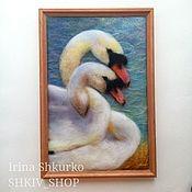 Картины и панно handmade. Livemaster - original item Wool painting
