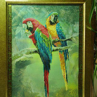 """Картины и панно ручной работы. Ярмарка Мастеров - ручная работа """"Краски природы :-)""""Вышивка крестом,картины и панно,попугаи. Handmade."""