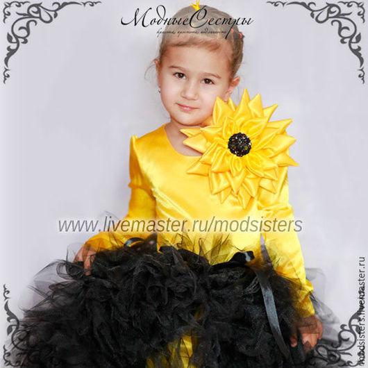 """Одежда для девочек, ручной работы. Ярмарка Мастеров - ручная работа. Купить Платье """"Подсолнух"""" Арт.360. Handmade. Детское платье"""