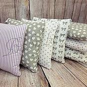 Для дома и интерьера ручной работы. Ярмарка Мастеров - ручная работа Бортики-подушки в кроватку. Handmade.