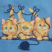 Для дома и интерьера ручной работы. Ярмарка Мастеров - ручная работа Фартук с котятами. Handmade.